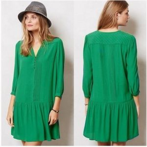 Anthropologie Maeve Green Galina Tunic Dress
